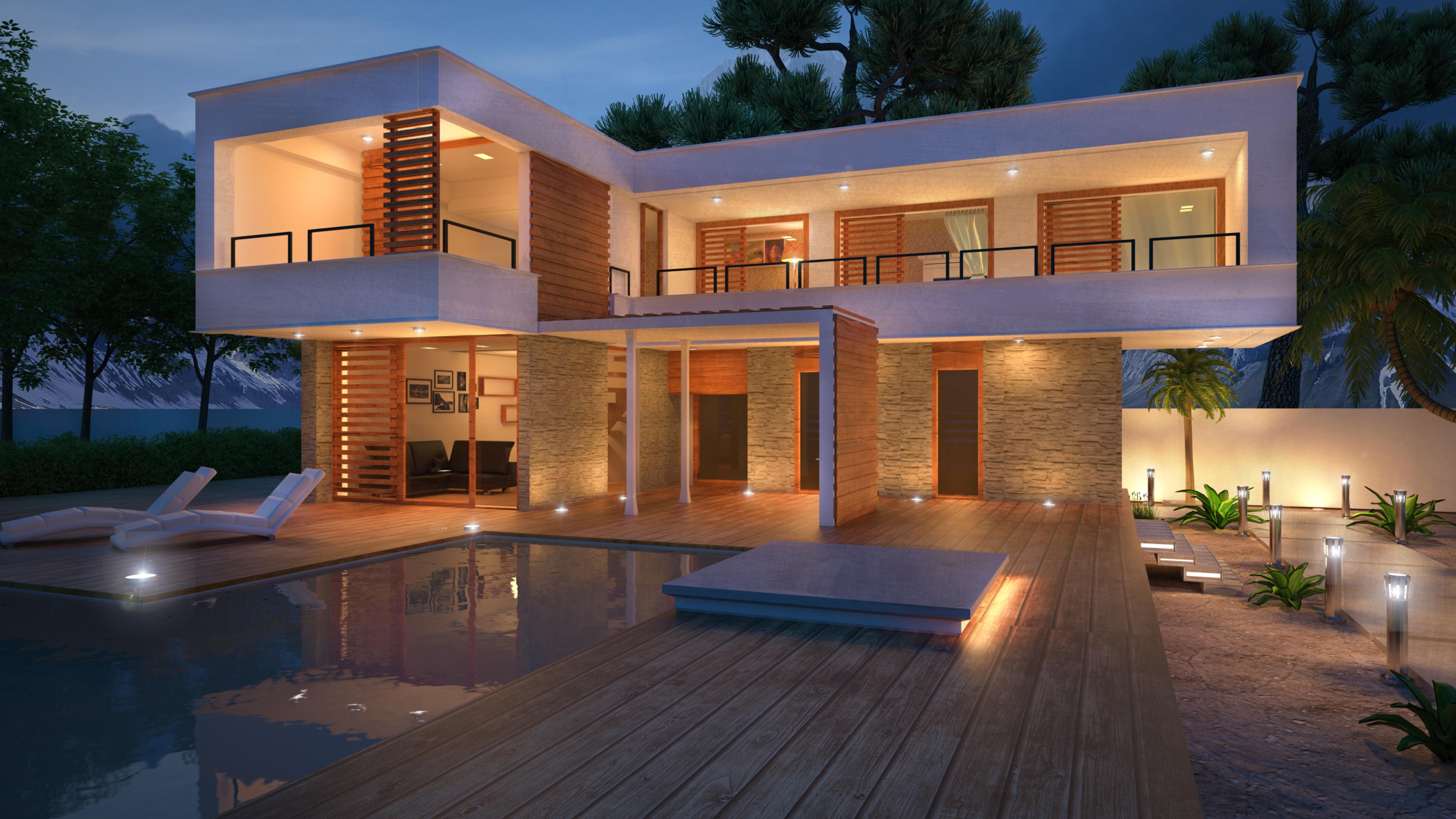 Modern ház