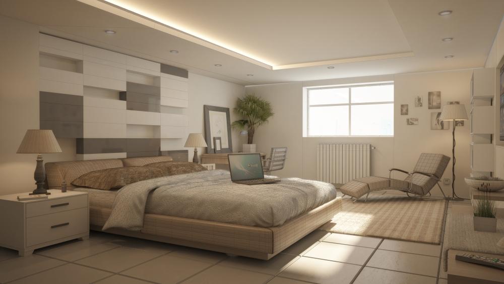 Modern hálószoba - Modern bedroom (2/2)