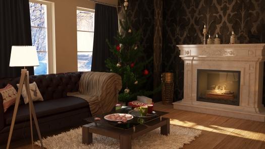 Karácsonyi nappali