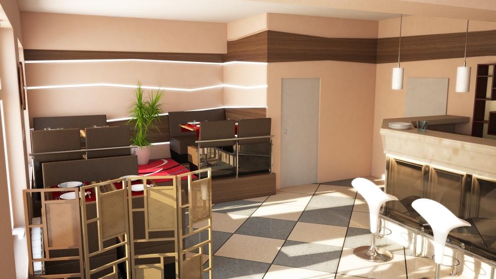Étterem látványterv - Restaurant plan (2/3)
