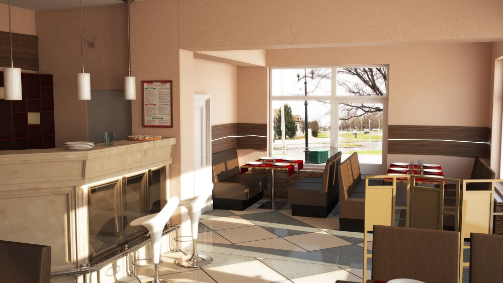 Étterem látványterv - Restaurant plan (3/3)